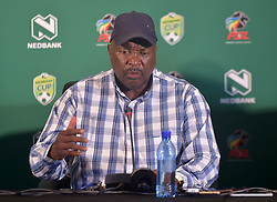 SOUTH AFRICA: JOHANNESBURG: South African soccer legend and Jomo cosmos coach Jomo Sono speak during the Nedbank cup press conference, Gauteng. <br /> Picture: Itumeleng English/African News Agency(ANA)<br /> 23.01.2019