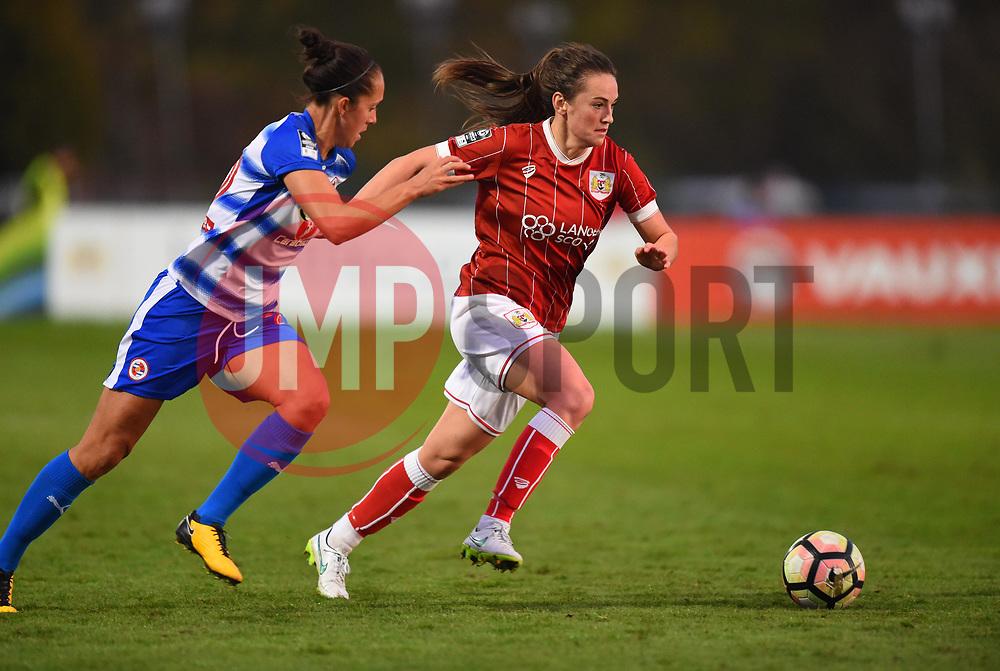 Chloe Arthur of Bristol City Women in action against Reading FC Women - Mandatory by-line: Paul Knight/JMP - 28/10/2017 - FOOTBALL - Stoke Gifford Stadium - Bristol, England - Bristol City Women v Reading Women - FA Women's Super League