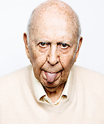 Carl Reiner and a little tongue
