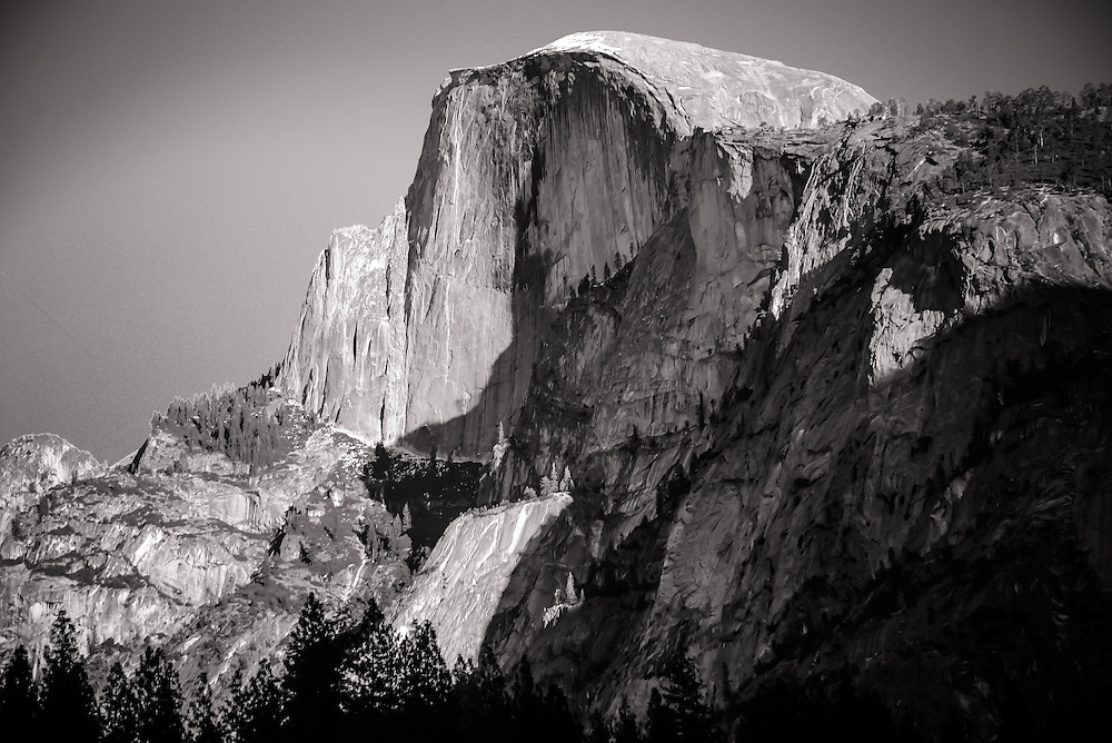 My tribute to a great man, Ansel Adams. Half Dome Yosemite.