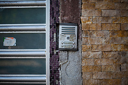 The intercom outside of the office of  Arquitectura 911Sc  in Mexico City.