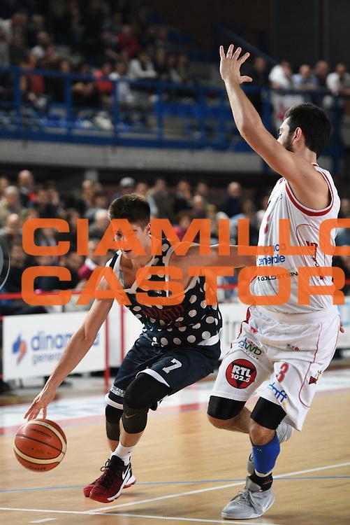 Candi Leonardo<br /> Dinamica Generale Mantova - Kontatto Bologna<br /> Campionato Basket LNP 2016/2017<br /> Mantova 06/11/2016<br /> Foto Ciamillo-Castoria