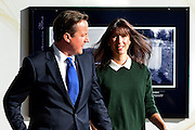 © Licensed to London News Pictures. 03/10/2012. Birmingham, UK Prime Minister David Cameron and his wife Samantha arrive on Day 1 at The Conservative Party Conference at the ICC today 7th October 2012. Photo credit : Stephen Simpson/LNP