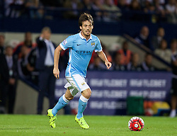 WEST BROMWICH, ENGLAND - Monday, August 10, 2015: Manchester City's David Silva in action against West Bromwich Albion during the Premier League match at the Hawthorns. (Pic by David Rawcliffe/Propaganda)