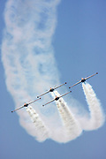 4 Israeli Air force Fouga Magister CM-170 in aerobatics display