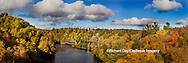 64776-011.04 Fall Color Dead River Marquette county in the Upper Peninsula, MI