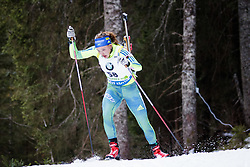 Linn Persson (SWE) competes during Women 10 km Pursuit at day 3 of IBU Biathlon World Cup 2015/16 Pokljuka, on December 19, 2015 in Rudno polje, Pokljuka, Slovenia. Photo by Ziga Zupan / Sportida