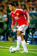 26-08-2015 VOETBAL:CLUB BRUGGE-MANCHESTER UNITED:BRUGGE<br /> Champions League 2015-2016<br /> <br /> Memphis Depay van Manchester United <br /> <br /> Foto: Geert van Erven