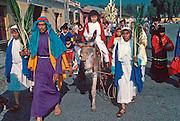 GUATEMALA, FESTIVALS Semana Santa (Easter Week) in Antigua; Palm Sunday, procession of the Christ Child
