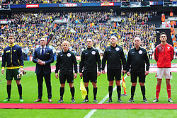 ANDY WOOLMER REFEREE, Barnsley v Oxford United, Johnstones Paint Trophy Final Wembley Stadium Sunday 3rd April 2016, (Score Barnsley 3, Oxford 2)
