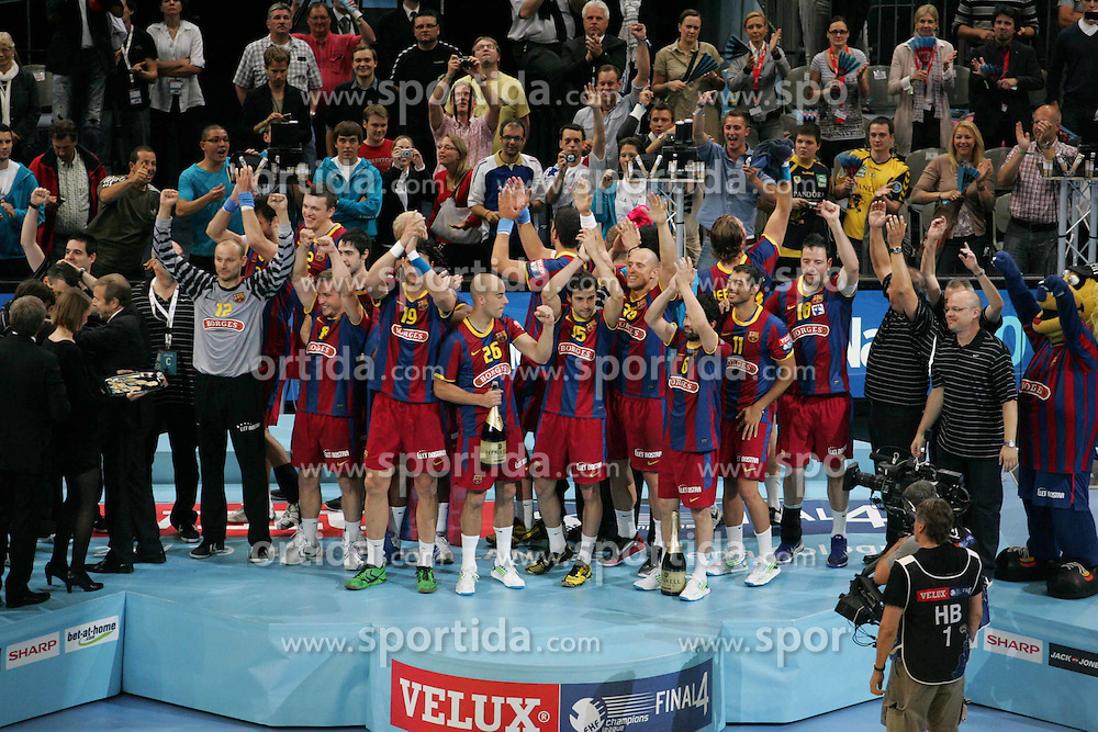 29.05.2011,  Lanxess Arena, Koeln, GER, EHF Final 4, FC Barcelona Borges (ESP) vs. Renovalia Ciudad Real (ESP), Finale, im Bild: Champions League Sieger Barcelona  EXPA Pictures © 2011, PhotoCredit: EXPA/ nph/  Mueller       ****** out of GER / SWE / CRO  / BEL ****** / SPORTIDA PHOTO AGENCY