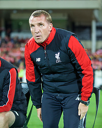 ADELAIDE, AUSTRALIA - Monday, July 20, 2015: Liverpool's manager Brendan Rodgers before a preseason friendly match against Adelaide United at the Adelaide Oval on day eight of the club's preseason tour. (Pic by David Rawcliffe/Propaganda)
