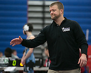 Midlakes head coach Steve Howcroft during a match at Fairport High School on Saturday, December 13, 2014.
