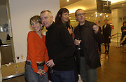 Sam Taylor-Wood, Neil Tennant and Janet Street-Porter. Launch of Home and Dry,  Pet Shop Boys video made by Wolfgang Tillmans. Inside Space. Selfridges. 14 January 2001. © Copyright Photograph by Dafydd Jones 66 Stockwell Park Rd. London SW9 0DA Tel 020 7733 0108 www.dafjones.com