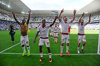 Joie fin de match des Girondins / Cedric Carrasso<br /> FOOTBALL : Bordeaux vs Nantes - 3eme Journee de L1  - Bordeaux - 28/08/2016<br /> Norway only