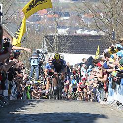 03-04-2016: Wielrennen: Ronde van Vlaanderen vrouwen: Oudenaarde  <br />OUDENAARDE (BEL) cycling  <br />The sixth race in the UCI Womensworldtour is the ronde van Vlaanderen. A race over the famous Flemish climbs. The firstgroupe on the Oude Kwaremont