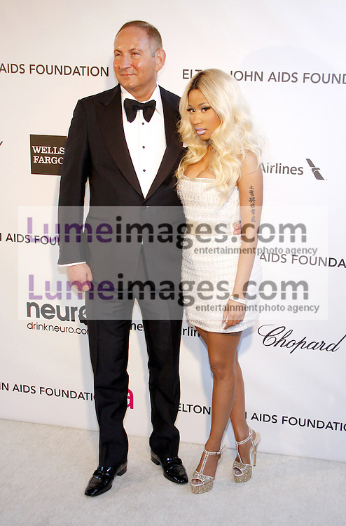 John Demsey and Nicki Minaj at the 21st Annual Elton John AIDS Foundation Academy Awards Viewing Party held at the Pacific Design Center in West Hollywood on February 24, 2013 in Los Angeles, California. Credit: Lumeimages.com