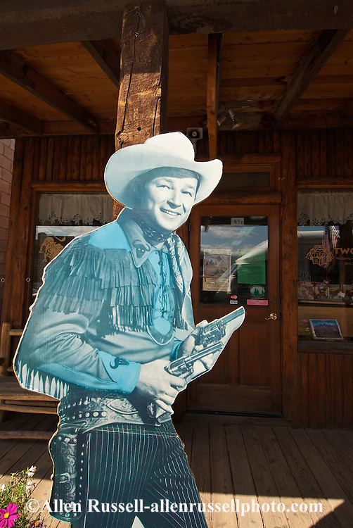 Roy Rogers, poster, Dubois, Wyoming