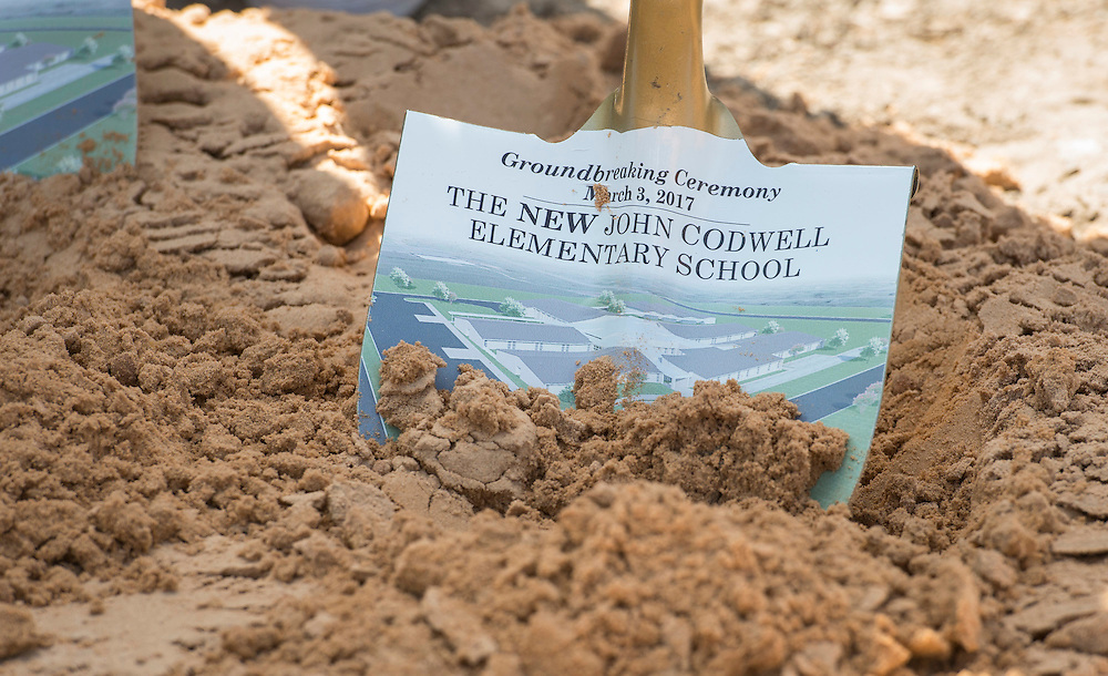 Groundbreaking ceremony at Codwell Elementary School, March 3, 2017.