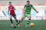 Forest Green Rovers Haydn Hollis(32) during the EFL Sky Bet League 2 match between Morecambe and Forest Green Rovers at the Globe Arena, Morecambe, England on 17 February 2018. Picture by Shane Healey.