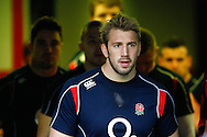 Picture by Andrew Tobin/SLIK images +44 7710 761829. 2nd December 2012. Chris Robshaw leads his team out for the warm up before the QBE Internationals match between England and the New Zealand All Blacks at Twickenham Stadium, London, England. England won the game 38-21.