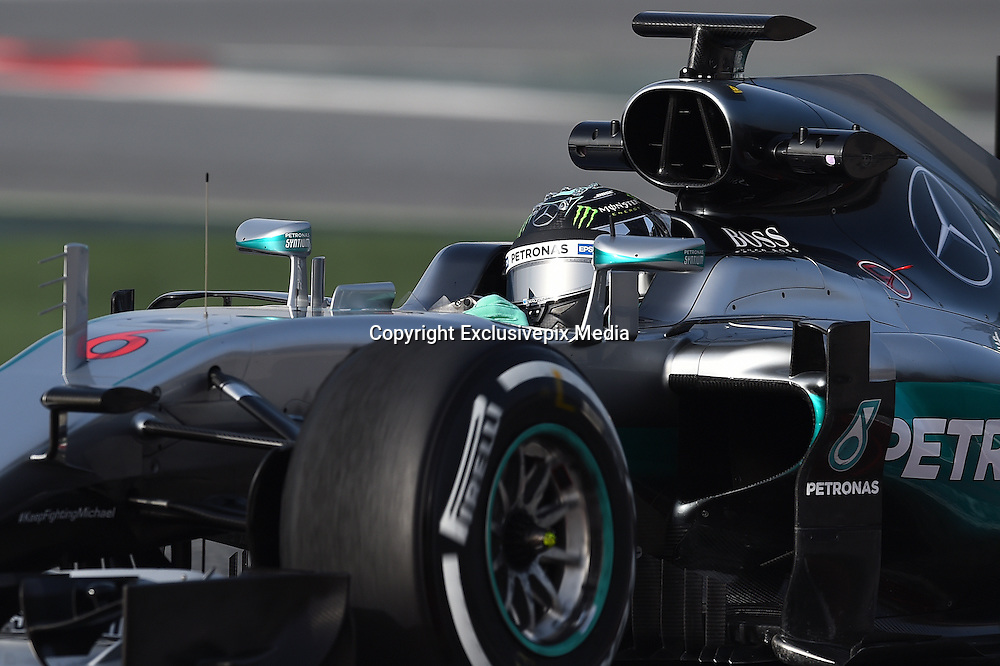 Feb. 22, 2016 - Barcelona, Spain - <br /> <br /> The Mercedes driver, Nico Rosberg, in action during the 2nd day of Formula One tests days in Barcelona, 23rd of February, 2016<br /> ©Exclusivepix Media