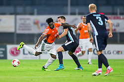Kyrian Nwabueze of Shirak vs Rok Grudina of Gorica during 2nd Leg football match between ND Gorica and FC Shirak in 1st Qualifying Round of UEFA Europa League 2017/18, on July 6, 2017 in Nova Gorica, Slovenia. Photo by Vid Ponikvar / Sportida
