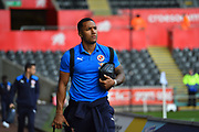 Liam Moore (6) of Reading arriving at the Liberty Stadium before the EFL Sky Bet Championship match between Swansea City and Reading at the Liberty Stadium, Swansea, Wales on 27 October 2018.