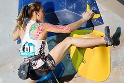 Janja Garnbret of Slovenia during IFSC Climbing World Cup Kranj 2018, on September 29, 2018 in Sports Hall Zlato Polje, Kranj, Slovenia. Photo by Matic Klansek Velej / Sportida