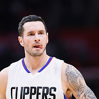21 December 2015: Los Angeles Clippers guard J.J. Redick (4) is seen during the Oklahoma City Thunder 100-99 victory over the Los Angeles Clippers, at the Staples Center, Los Angeles, California, USA.
