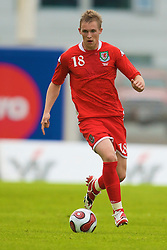 REYKJAVIK, ICELAND - Wednesday, May 28, 2008: Wales' Jack Collison in action against Iceland on his debut during the international friendly match at the Laugardalsvollur Stadium. (Photo by David Rawcliffe/Propaganda)