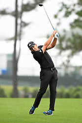 May 3, 2019 - Charlotte, NC, U.S. - CHARLOTTE, NC - MAY 03: Sergio Garcia Plays his shot fairway on 10 during round two of the Wells Fargo Championship on March 03, 2019 at Quail Hollow Club in Charlotte,NC. (Photo by Dannie Walls/Icon Sportswire) (Credit Image: © Dannie Walls/Icon SMI via ZUMA Press)