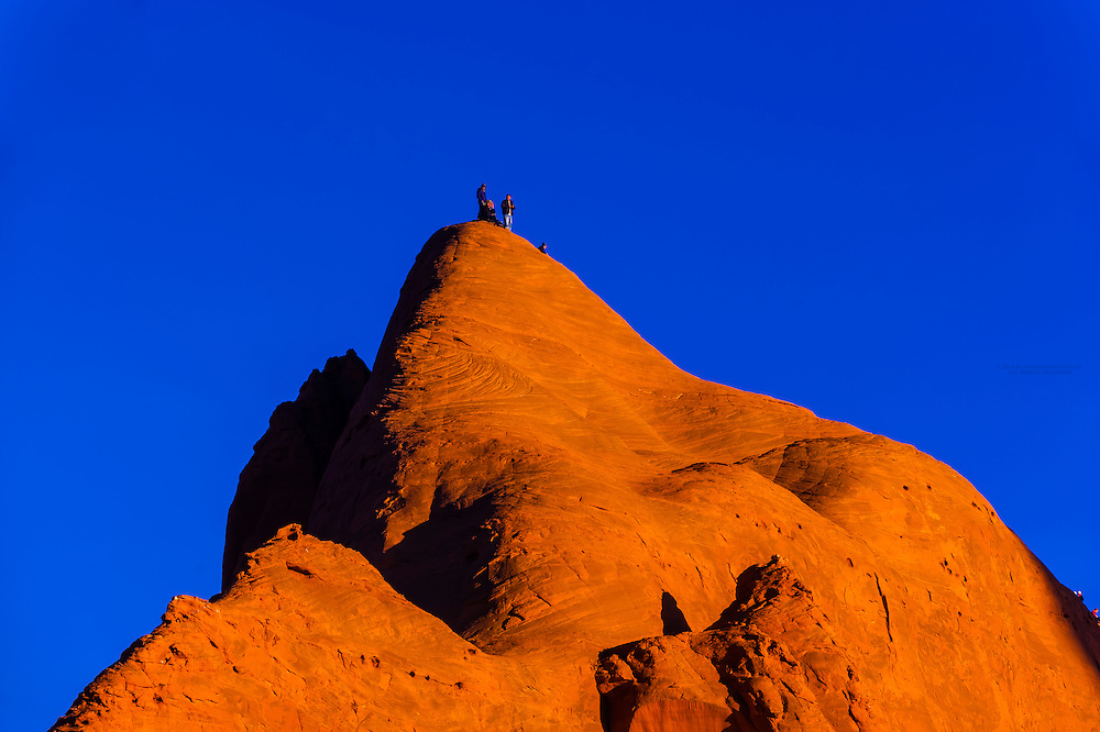Monolithic rock formation, Red Rock State Park, Gallup, New Mexico USA.