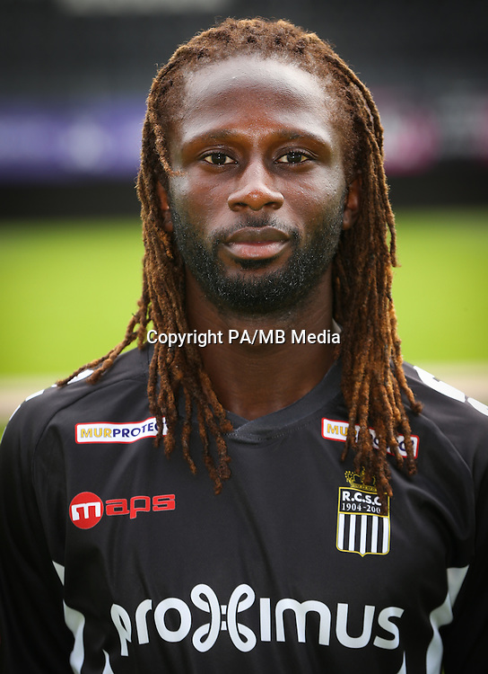 Charleroi's Dieumerci Ndongala pictured during the 2015-2016 season photo shoot of Belgian first league soccer team Sporting de Charleroi, Tuesday 14 July 2015 in Charleroi.