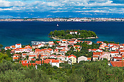 Town of Preko and the Dalmatian Coast from St. Michael's Fort, Uglijan Island, Croatia