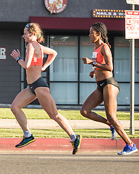 Los Angeles Marathon , Nataliya Lehonkova, Ukraine, leads at halfway en route to victory, Lehonkova won in 2:30:42, and Serkalem Abrha of Ethiopia was second among the women, at 2:32:24