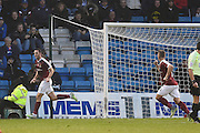 Northampton Town midfielder John-Joe O'Toole (21) celebrates his goal (0-1) during the EFL Sky Bet League 1 match between Gillingham and Northampton Town at the MEMS Priestfield Stadium, Gillingham, England on 12 November 2016. Photo by Martin Cole.
