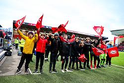 Flag bearers - Rogan/JMP - 30/11/2019 - Ashton Gate Stadium - Bristol, England - Bristol City v Huddersfield Town - Sky Bet Championship.