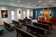 DENVER, CO - AUGUST 24: The chapel at the Samaritan House Women's Shelter on August 24, 2017, in Denver, Colorado. (Photo by Anya Semenoff/for Catholic Charities)