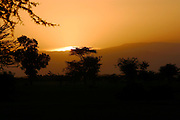 SHEWA/ETHIOPIA..Sunset at the Rift Valley..(Photo by Heimo Aga)
