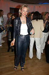 The COUNTESS OF DERBY at a party hosted by Elizabeth Saltzman and Harvey Nichols to celebrate the UK launch of New York fashion designer Tory Burch held at the Fifth Floor Restaurant, Harvey Nichols, Knightsbridge, London on 24th May 2006.<br /><br />NON EXCLUSIVE - WORLD RIGHTS