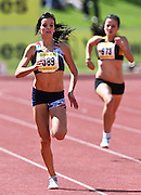 GERMISTON, SOUTH AFRICA, Friday 29 March 2012, Stephanie Wicksell in the 400m for girls during the Yellow Pages South African Junior and Schools Athletic Championships at the Germiston Stadium..Photo by Roger Sedres/Image SA