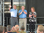 Gulfport, MS 8/28/15 President George Bush joined Mississippi Governor's Haley Barbour and Governor Phil Bryant  for a first responders event to commemorate the 10th Anniversary of Hurricane Katrina in Gulfport Mississippi. Photo ©Suzi Altman