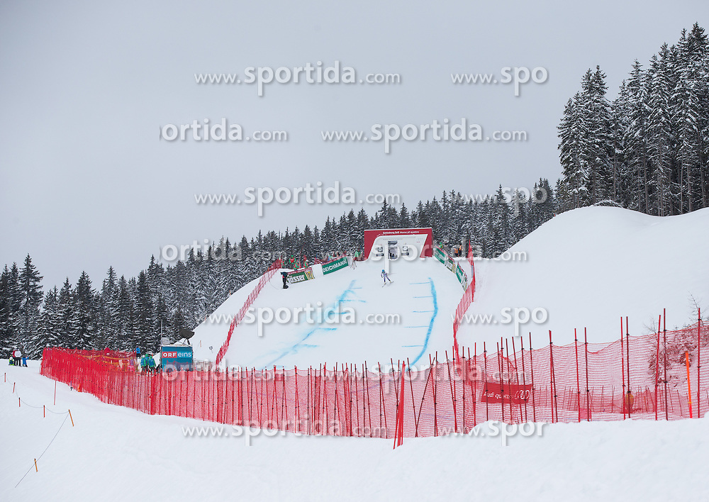 07.02.2013, Planai, Schladming, AUT, FIS Weltmeisterschaften Ski Alpin, 2. Training, Abfahrt, Damen, im Bild Feature vom Start // feature of start area during 2nd practice of the ladies Downhill at the FIS Ski World Championships 2013 at the Planai Course, Schladming, Austria on 2013/02/07. EXPA Pictures © 2013, PhotoCredit: EXPA/ Johann Groder