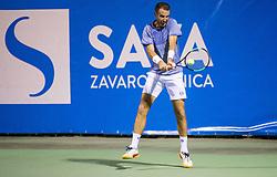 Aldin Setkic (BIH) in action during Day 7 at ATP Challenger Zavarovalnica Sava Slovenia Open 2018, on August 9, 2018 in Sports centre, Portoroz/Portorose, Slovenia. Photo by Vid Ponikvar / Sportida