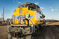 Union Pacific CEO Jack Koraleski was pictured at the Union Pacific rail yard in Council Bluffs, Iowa, on January 14, 2014.