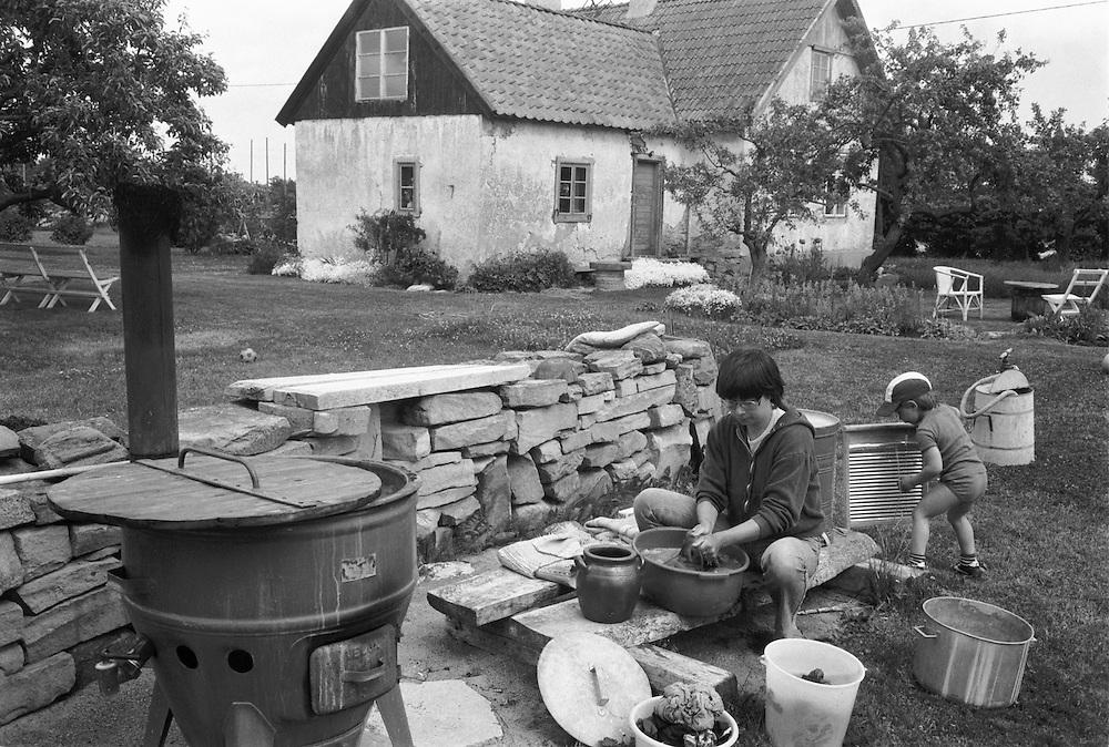 Tvättning på Odvalls