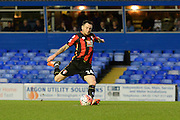 Bournemouth midfielder Lee Tomlin scores the equaliser from the penalty spot during the The FA Cup third round match between Birmingham City and Bournemouth at St Andrews, Birmingham, England on 9 January 2016. Photo by Alan Franklin.