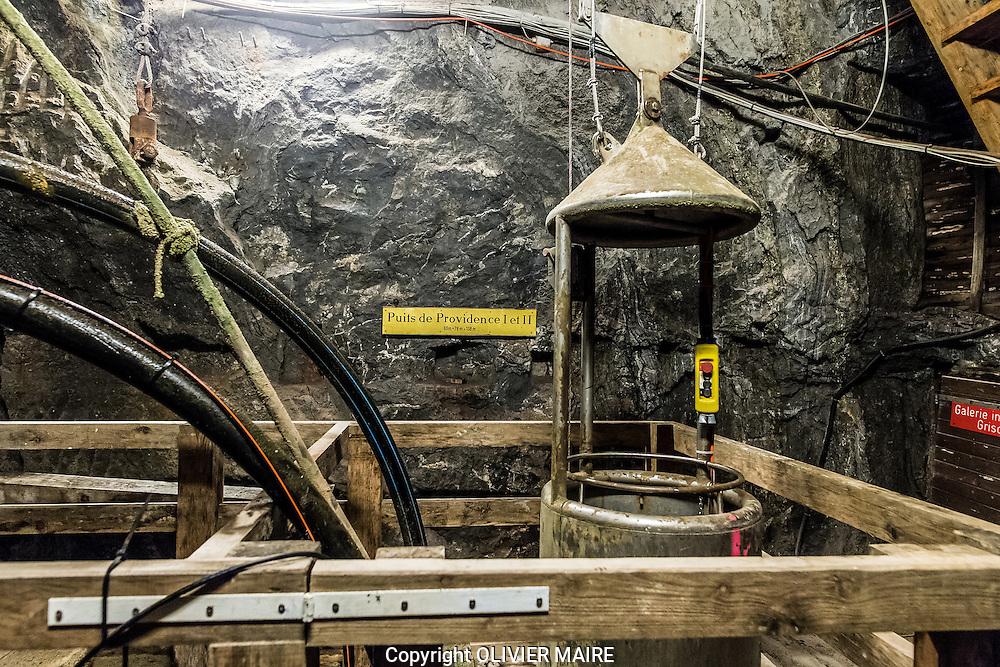 Visite des mines de sel de Bex sur le site du Bouillet le 10 aout 2016 avec Mme Jacqueline Menth,<br /> <br /> (PHOTO-GENIC.CH/ OLIVIER MAIRE)<br /> <br /> salines, exploitation, histoire des 450 ans d&rsquo;existence des Mines et Salines de Bex. mineur, grisou, caverne