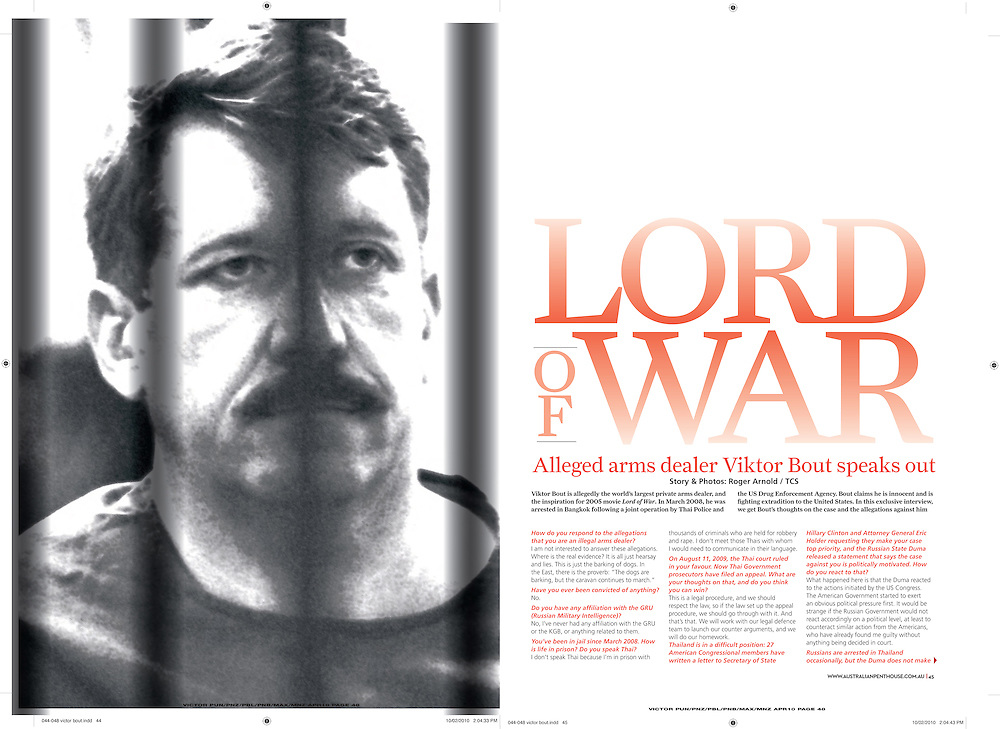 Interview with Viktor Bout featured in Penthouse.